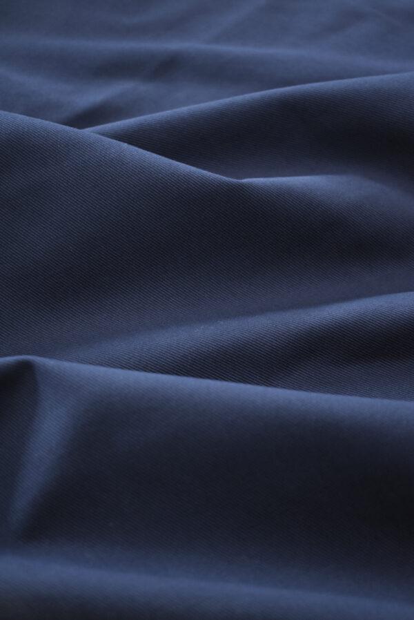 Костюмный хлопок стрейч темно-синий в рубчик (9701) - Фото 6
