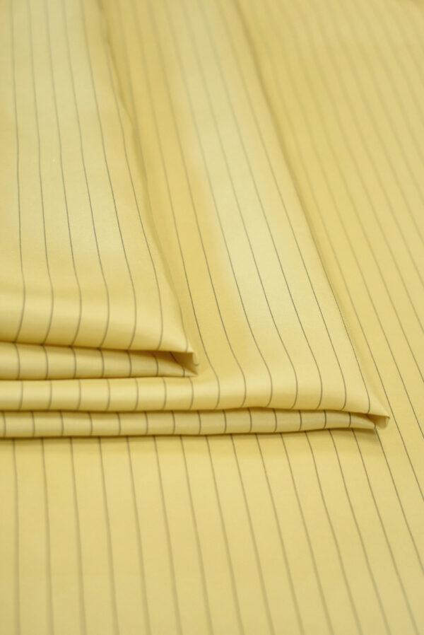 Шелк желтый в тонкую полоску (9747) - Фото 8