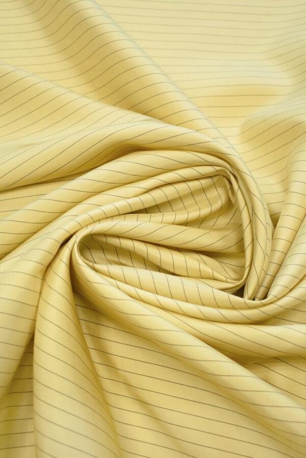 Шелк желтый в тонкую полоску (9747) - Фото 7
