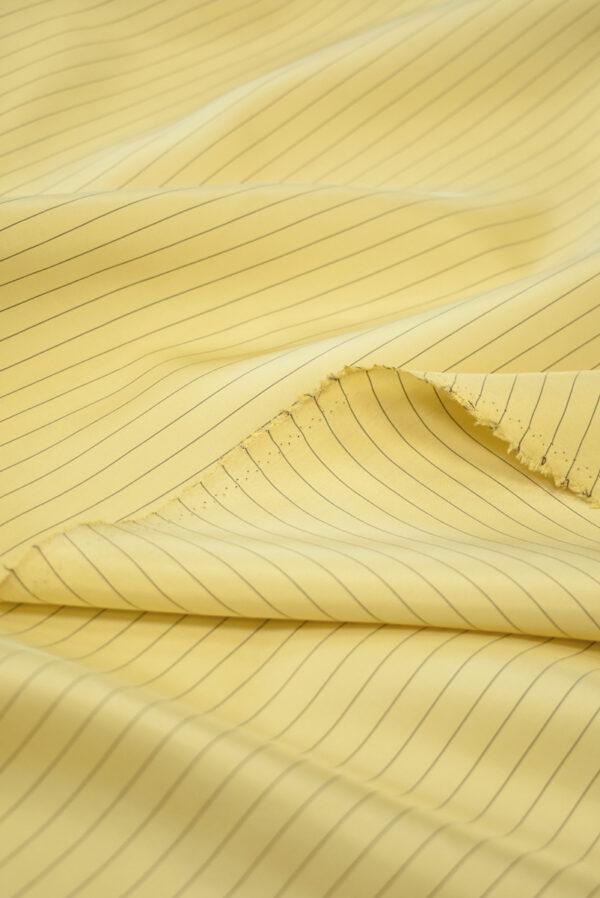 Шелк желтый в тонкую полоску (9747) - Фото 10