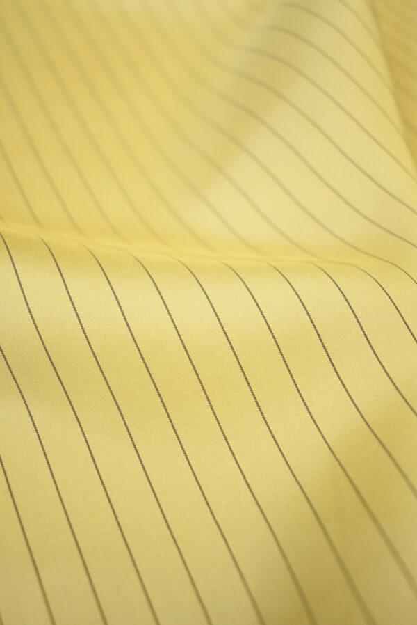 Шелк желтый в тонкую полоску (9747) - Фото 9
