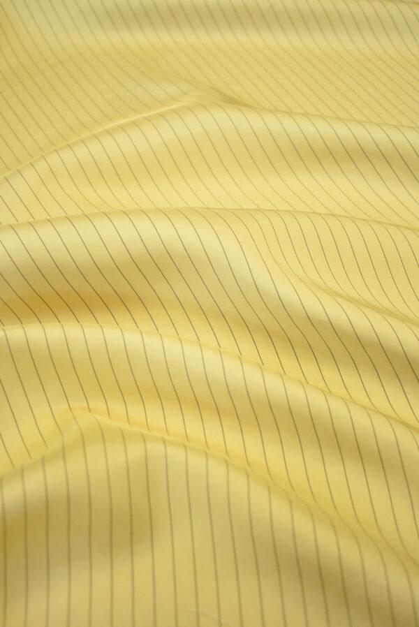 Шелк желтый в тонкую полоску (9747) - Фото 6