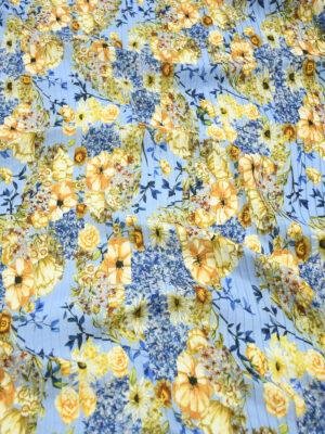 Плиссе голубого оттенка с яркими цветами (9758) - Фото 12