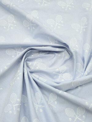 Джинс светло-голубого оттенка с вышивкой (9830) - Фото 25