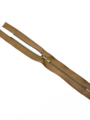 Молния металл брючная на светло-коричневой тесьме с бегунком 4 м (m1207) - Фото 18