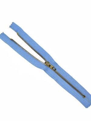 Молния металл бронза на голубой тесьме с бегунком 4 м (m1214) - Фото 15