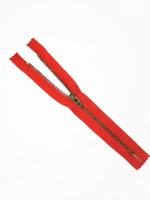 Молния металл бронза на красной тесьме с бегунком 4 м (m1218) - Фото 10