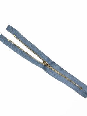 Молния металл бронза на серо-голубой тесьме с бегунком 4 м (m1224) - Фото 16