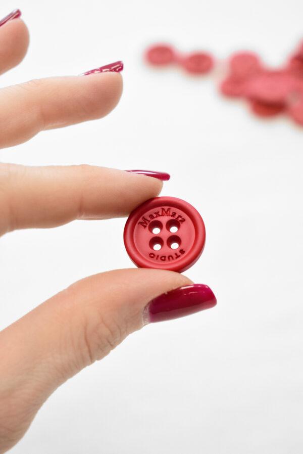 Пуговицы пластиковые красные на прокол 19мм (р1158) к23 - Фото 8