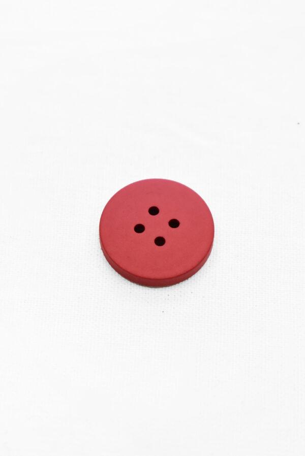 Пуговицы пластиковые красные на прокол 19мм (р1158) к23 - Фото 7