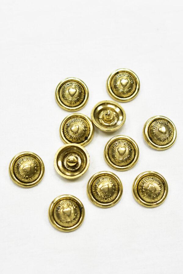 Пуговицы металл золото с надписью и сердечком (р0031) к-2 - Фото 8
