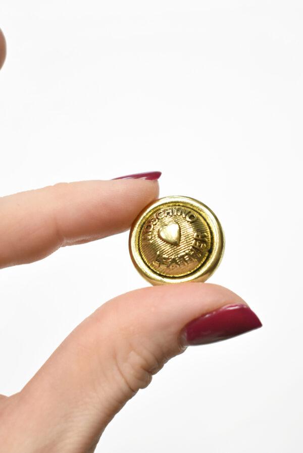 Пуговицы металл золото с надписью и сердечком (р0031) к-2 - Фото 9