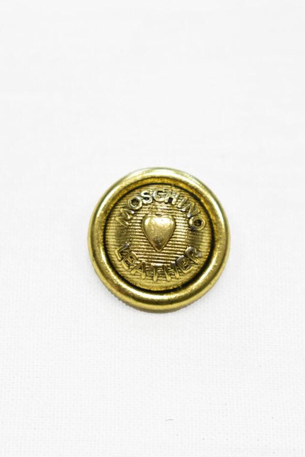 Пуговицы металл золото с надписью и сердечком (р0031) к-2 - Фото 6