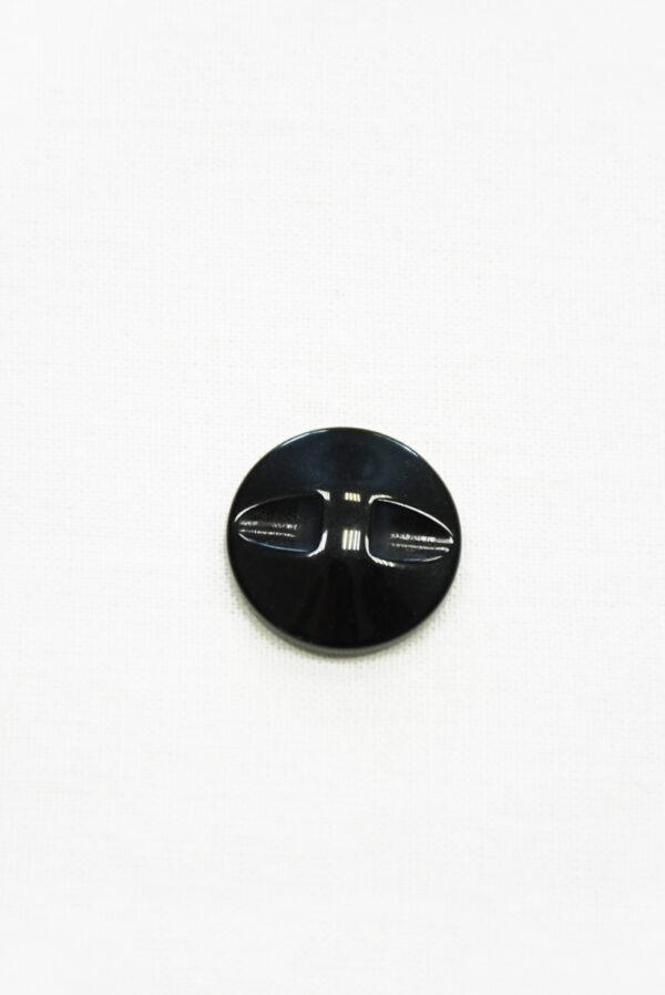 Пуговица коричневая в полоску с черным ободком маленькая (р1410) - Фото 7