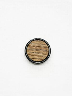 Пуговица коричневая в полоску с черным ободком маленькая (р1410) - Фото 12