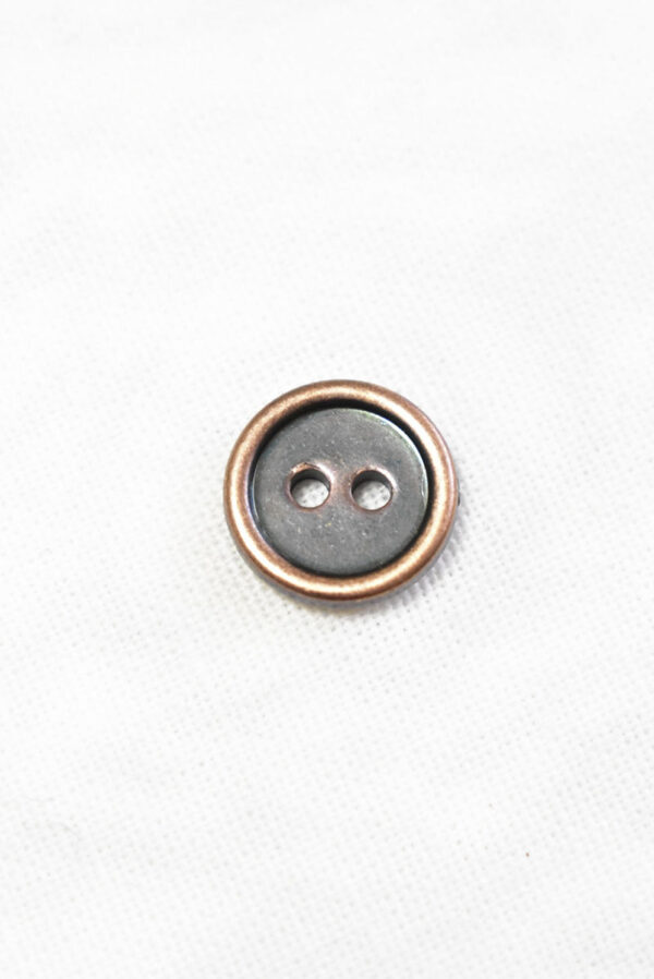 Пуговица пластик медного цвета на два прокола (р1415) - Фото 6