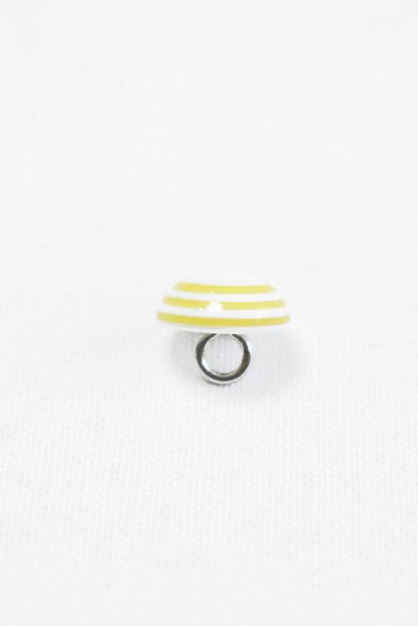 Пуговица пластик белая с желтыми полосками (р1416) - Фото 8