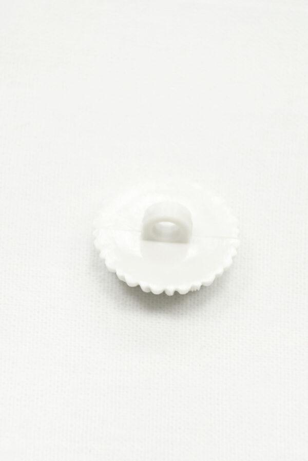 Пуговица пластик молочно-белая в виде цветка (р1417) - Фото 7