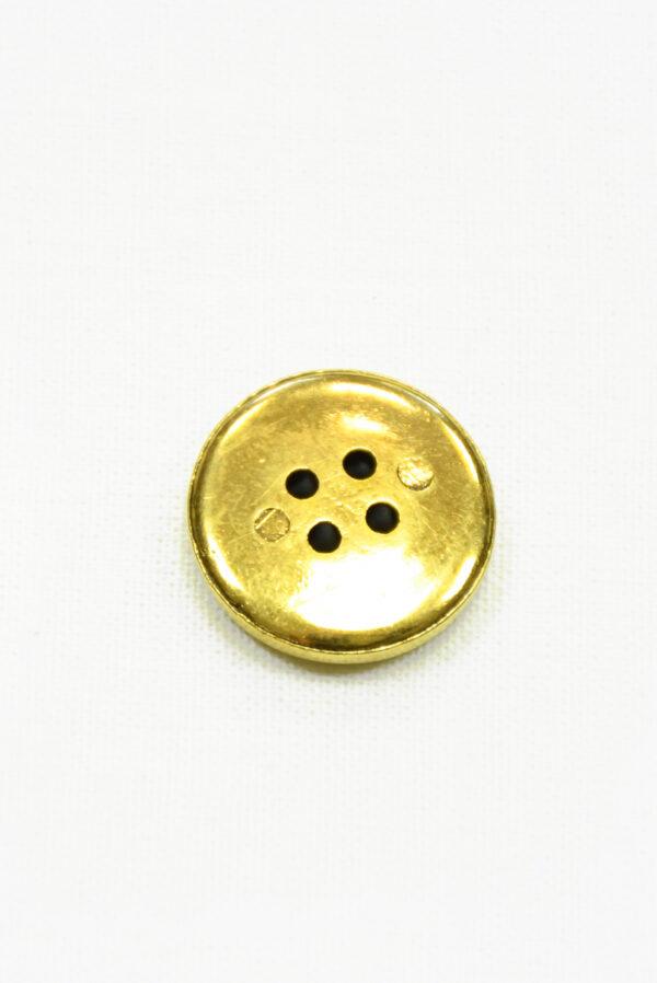 Пуговица пластик золотая на четыре прокола (р1418) - Фото 7