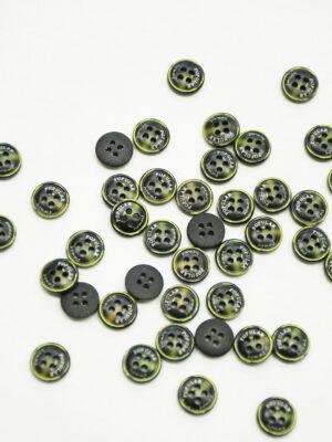Пуговица пластик черная с желтым надпись popular (р1419) - Фото 19