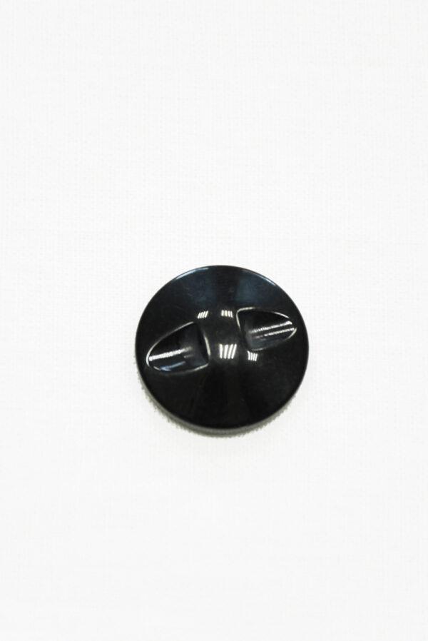Пуговица бежевая в полоску с черным ободком маленькая (р1428) - Фото 9