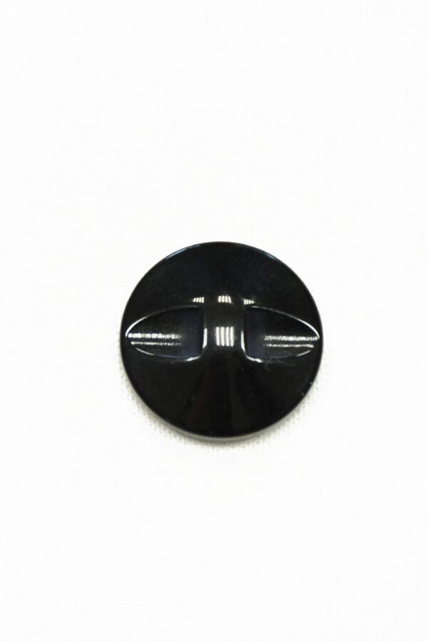 Пуговица бежевая в полоску с черным ободком (р1422) - Фото 7