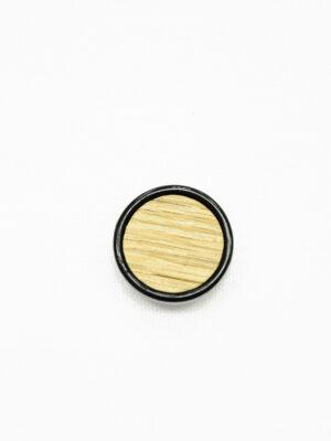 Пуговица бежевая в полоску с черным ободком маленькая (р1428) - Фото 6