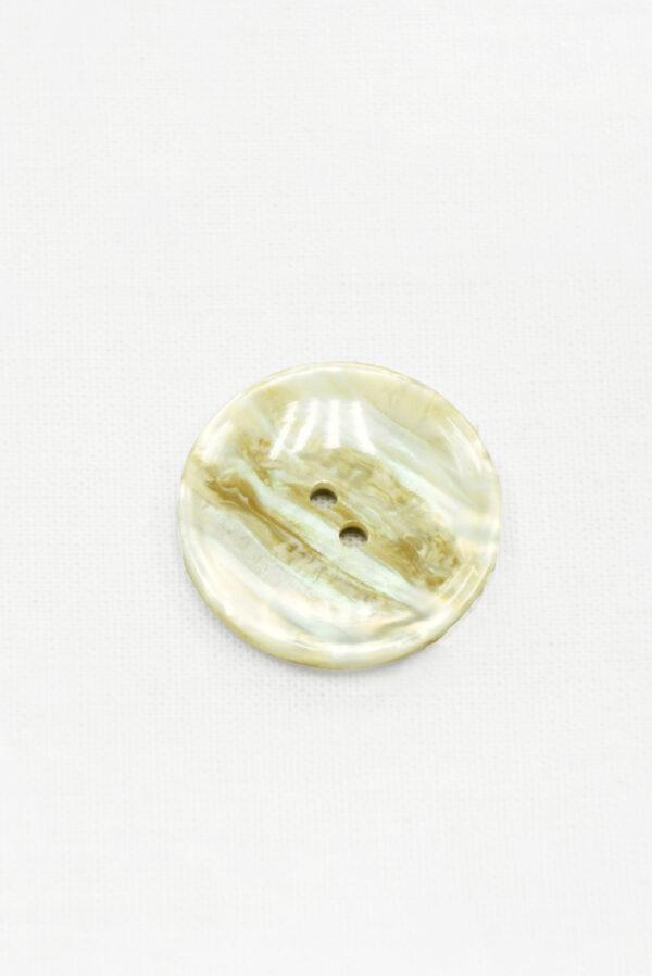 Пуговица пластик бежевая перламутровая на два прокола (р1429) - Фото 6