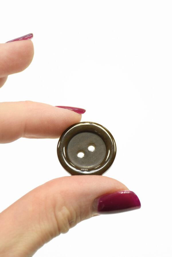 Пуговица пластик коричневая на прокол (р1430) - Фото 8