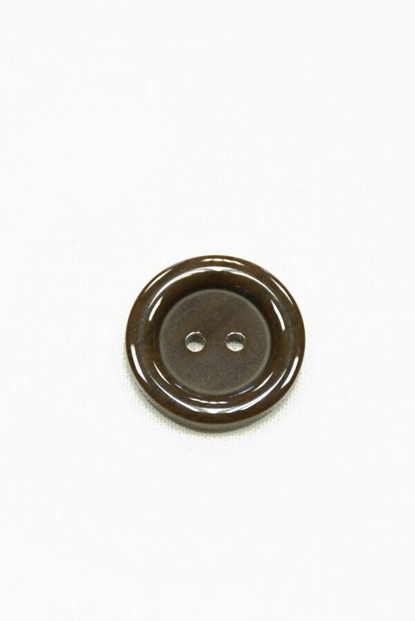 Пуговица пластик коричневая на прокол (р1430) - Фото 6