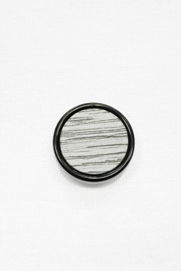 Пуговица серая в полоску с черным ободком (р1435) - Фото 6