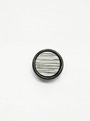 Пуговица маленькая серая в полоску с черным ободком (р1436) - Фото 19