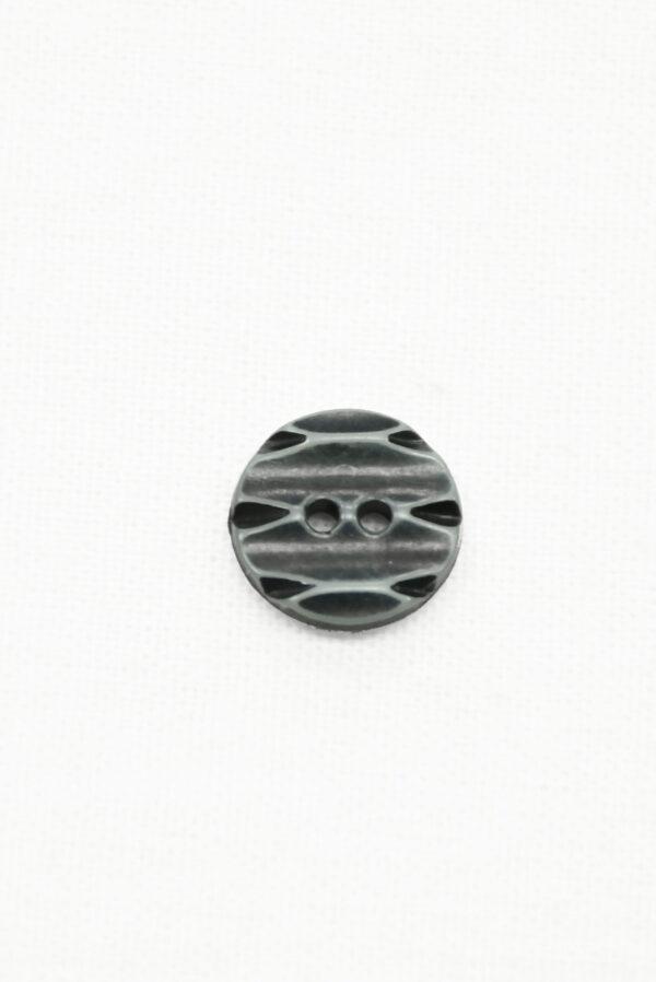 Пуговица пластик серая с резным узором (р1437) - Фото 6