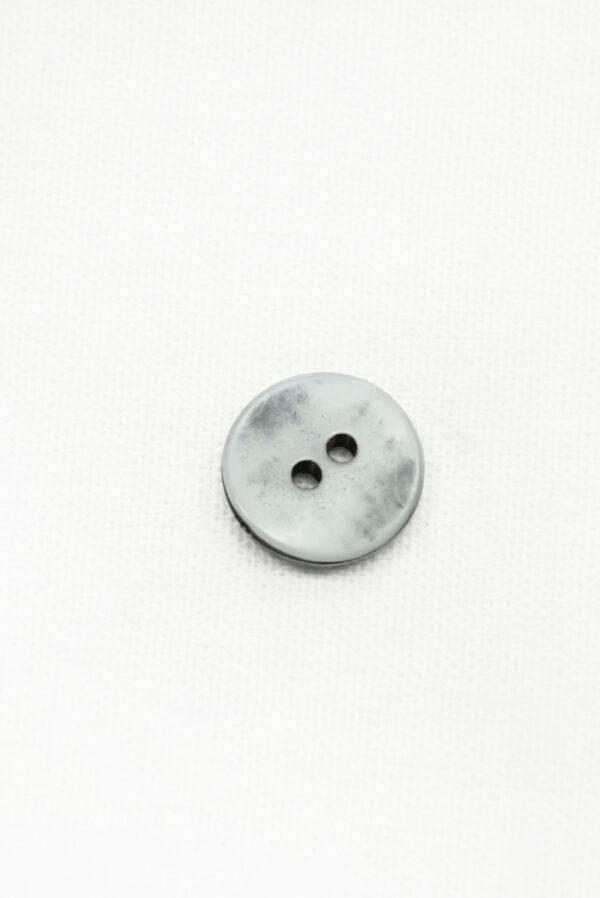 Пуговица пластик серая с резным узором (р1437) - Фото 8