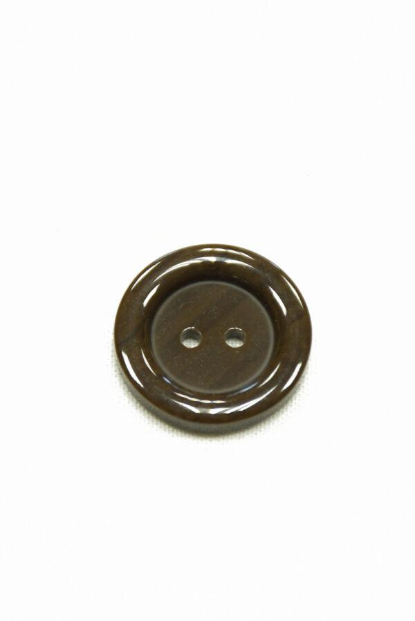 Пуговица пластик большая коричневая на прокол (р1443) - Фото 6