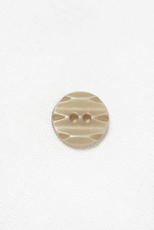 Пуговица пластик бежевая с резным узором (р1444) - Фото 6