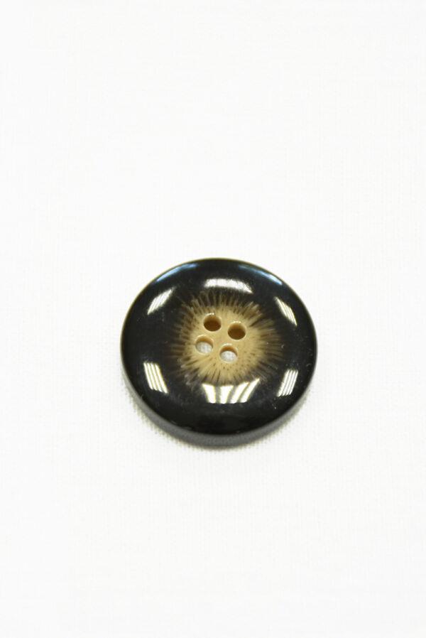 Пуговица пластик темно-коричневая с бежевой серединкой (р1448) - Фото 8