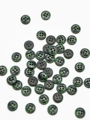 Пуговица пластик черная с зеленым надпись popular (р1449) - Фото 17