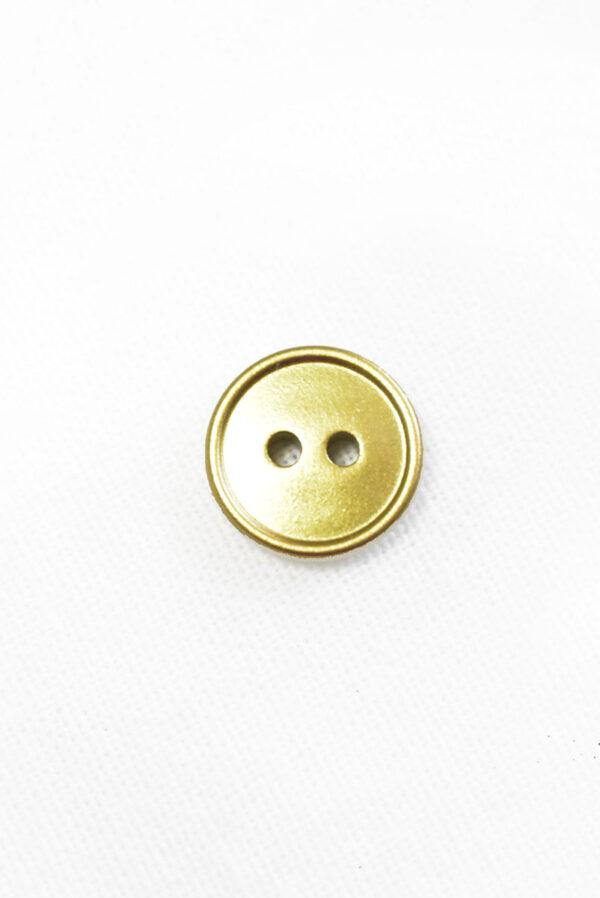 Пуговица пластик золотого цвета на два прокола (р1454) - Фото 6