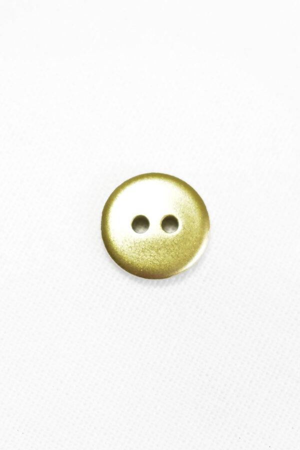 Пуговица пластик золотого цвета на два прокола (р1454) - Фото 9
