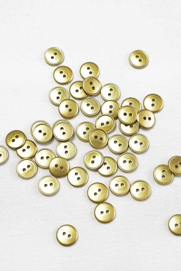 Пуговица пластик золотого цвета на два прокола (р1454) - Фото 8