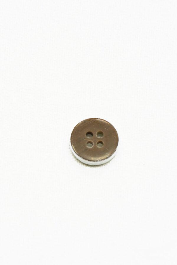 Пуговица пластик коричневая с белым орнаментом (р1461) - Фото 8
