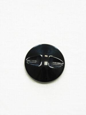 Пуговица коричневая в полоску с черным ободком (р1463) - Фото 13