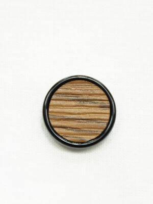 Пуговица коричневая в полоску с черным ободком (р1463) - Фото 12