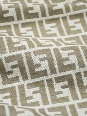 Жаккард серый с светло-коричневыми буквами (9819) - Фото 25