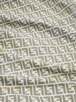 Жаккард серый с светло-коричневыми буквами (9819) - Фото 24