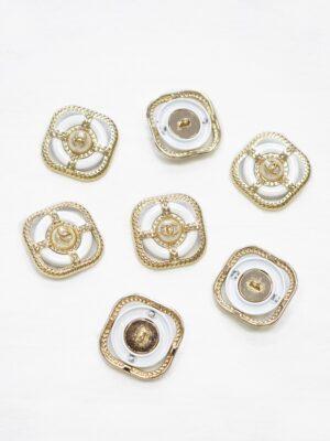 Пуговица металл золото квадратная пальтовая 30мм (p1082) к22 - Фото 9