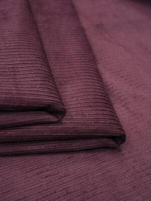 Дубленка вельветовая бордовая с мехом (9893) - Фото 19