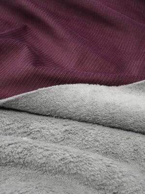Дубленка вельветовая бордовая с мехом (9893) - Фото 18