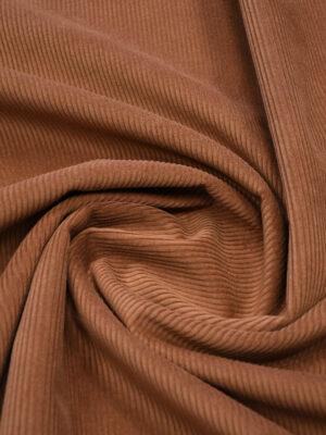 Дубленка вельветовая коричневая с мехом (9894) - Фото 21